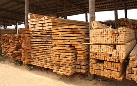 pile of hardwood